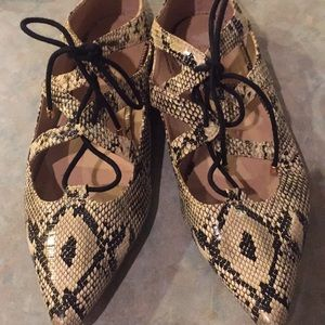 Top Shop snake print lace top shoes